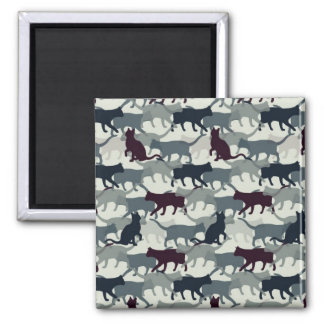 Lots of Cats Square Magnet