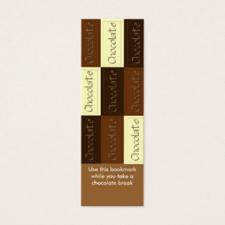 Lots of Chocolate Bookmark Mini Business Card