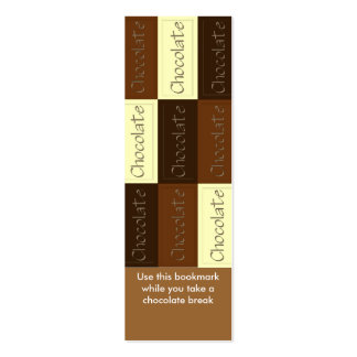 Lots of Chocolate Bookmark Pack Of Skinny Business Cards