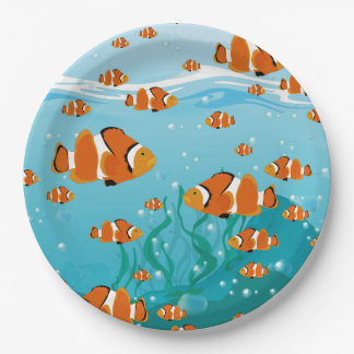 Lots of Clown Fish Paper Plate