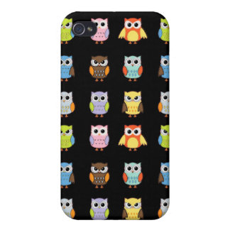Lots of Colorful Cute Owls Pattern iPhone 4/4S Covers