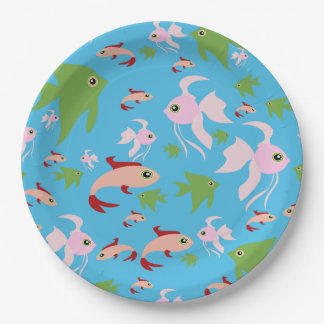 Lots of Colorful Fish Paper Plate
