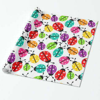 Lots of Crayon Colored Ladybugs Wrapping Paper