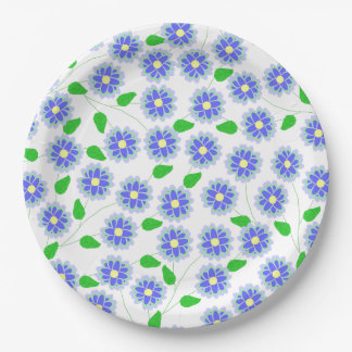 Lots of Daisies Intertwined Paper Plate