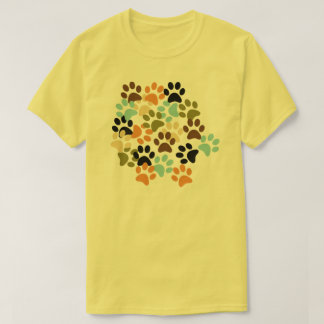 Lots of dog paw prints pattern T-Shirt