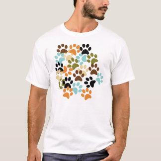 Lots of dog paw prints pattern T-Shirt