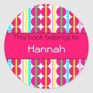 Lots of Dots! Book Label Round Sticker