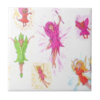 Lots of Fairies Small Square Tile