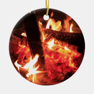Lots of Fire and Coals Ceramic Ornament