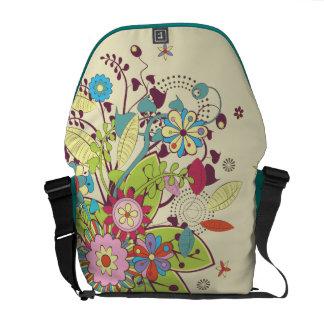 lots of flowers trendy vector commuter bag