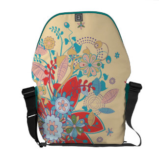 lots of flowers trendy vector courier bag