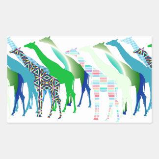 Lots of Giraffes Design 1 Rectangular Sticker