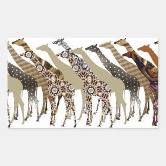 Lots of Giraffes Design 3 Rectangular Sticker