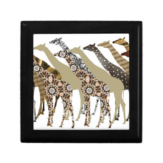Lots of Giraffes Design 3 Small Square Gift Box