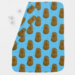 Lots of Happy Potatoes, Blue Baby Blanket