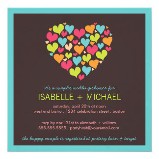 Lots of Hearts Couples Wedding Shower Invitation
