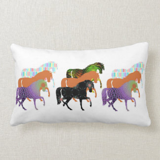 Lots of Horses Design 3 Lumbar Cushion