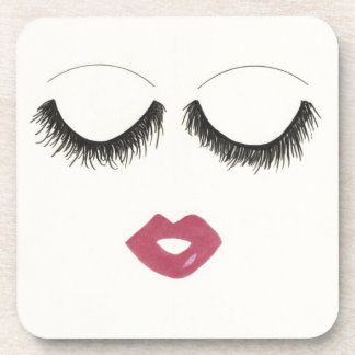 Lots of Lashes Beverage Coaster