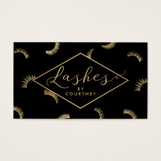 Lots of Lashes Pattern Lash Salon Black/Gold
