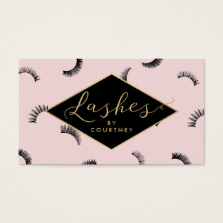 Lots of Lashes Pattern Lash Salon Pink/Black/Gold