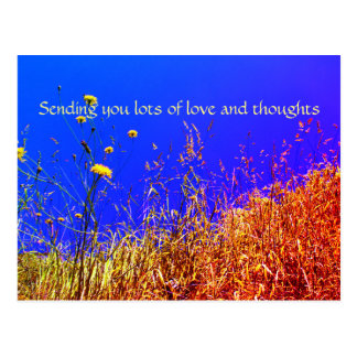 Lots of love and thoughts postcard