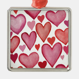 Lots of Love Silver-Colored Square Decoration
