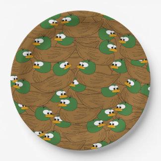 Lots of Mallard Ducks Paper Plate