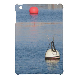 Lots of mooring buoys floating on calm sea water cover for the iPad mini