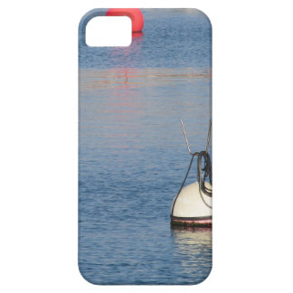 Lots of mooring buoys floating on calm sea water iPhone 5 cover