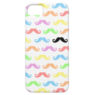 Lots of Moustaches (white)