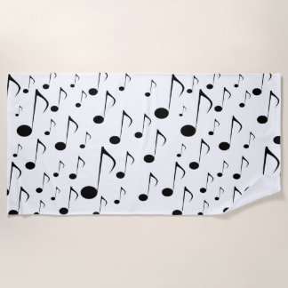 Lots of Musical Notes Beach Towel