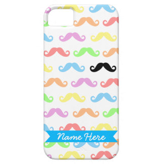 Lots of Mustaches (white) Customizable! iPhone 5 Case