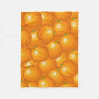 Lots of Oranges Fleece Blanket