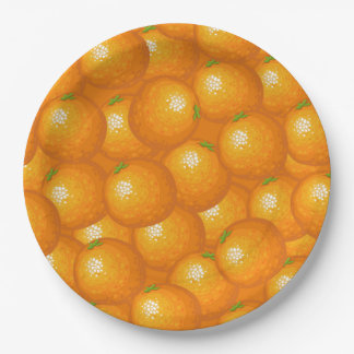 Lots of Oranges Paper Plate