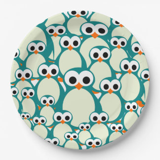Lots of Penguins Paper Plate