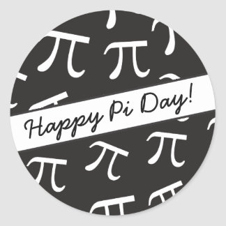 Lots of Pi - Math - Happy Pi Day Round Sticker