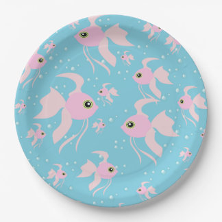 Lots of Pink Goldfish Paper Plate