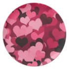Lots of Pink Hearts, Cute Love Pattern Plate