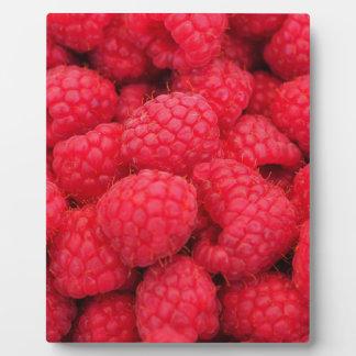 Lots of Pink Raspberries - Fruit Print Plaque
