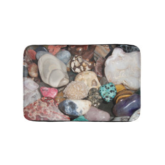 Lots of Polished Rocks, Agate, Tiger Eye, Quartz Bath Mat