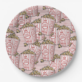 Lots of Popcorn 9 Inch Paper Plate