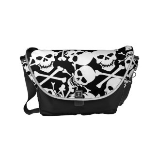 Lots of skulls courier bags
