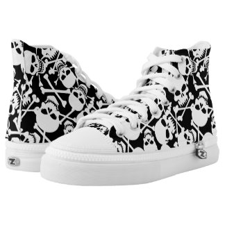 Lots of skulls high tops