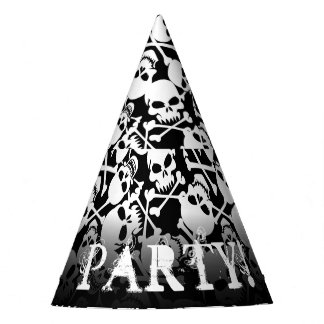 Lots of skulls party hat