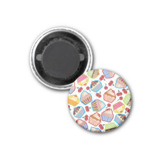 Lotsa Cupcakes n Cherries Magnet