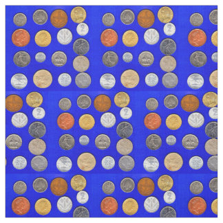 lotsa foreign coins print fabric