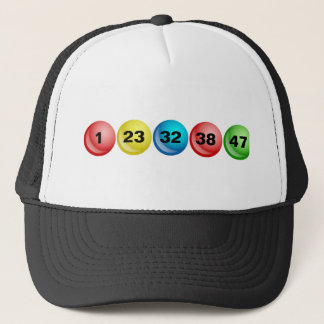 Lottery Balls, 1, 23, 32, 38, 47 Trucker Hat