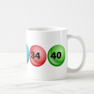 Lottery Balls, 3, 18, 23, 34, 40 Basic White Mug