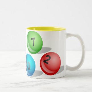 Lottery Balls Two-Tone Mug