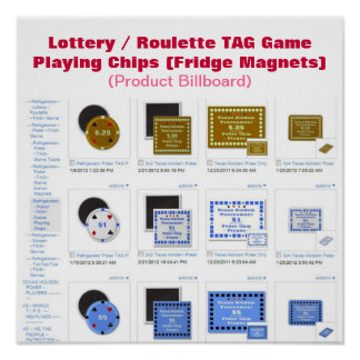 Lottery / Roulette TAG Game Play Chips Poster
